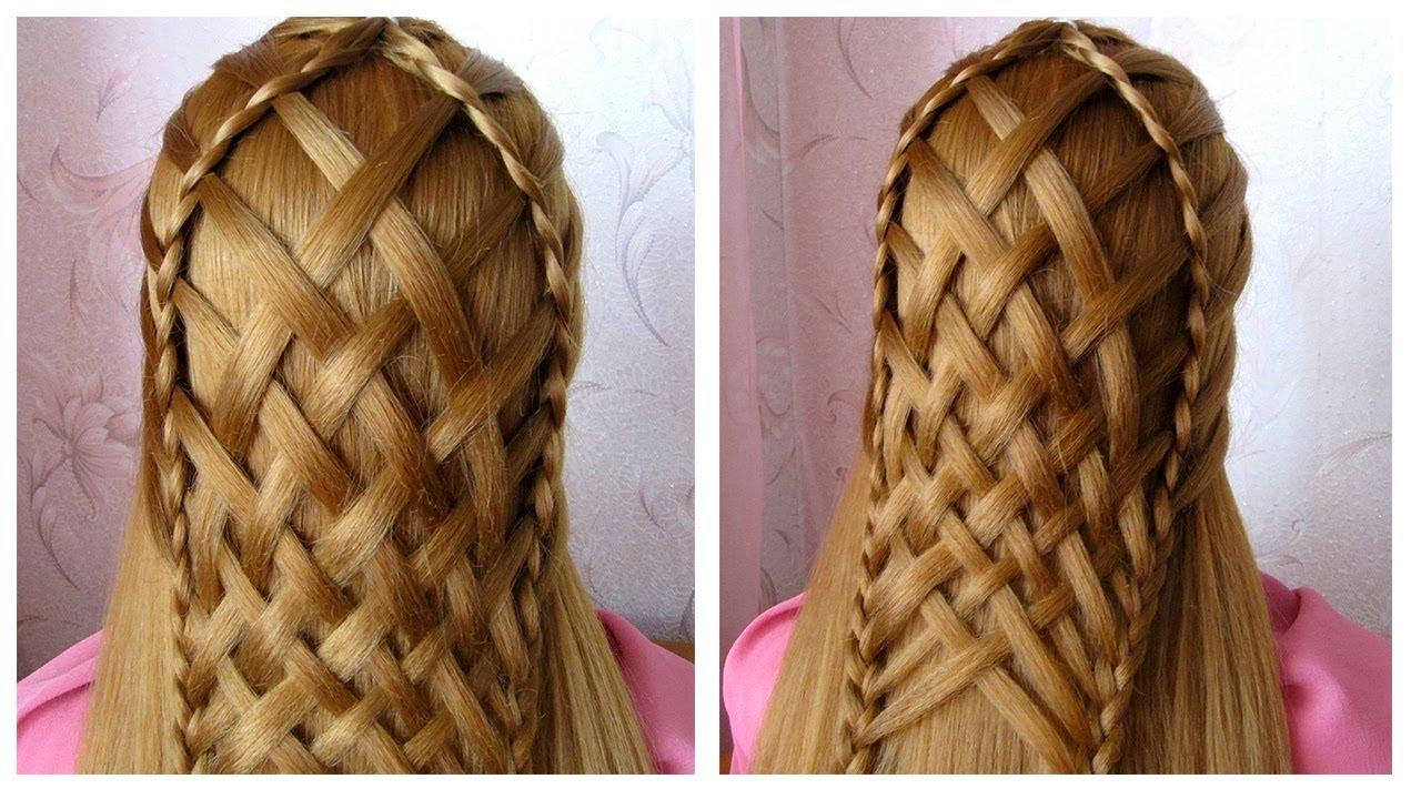 Coiffure pour tous les jours pour cheveux long/mi long 🌼 facile à faire 🌼 Coiffure avec tresse ...