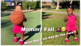 Mommy Vlog: Nova Dee's first day at the park!! + Mommy Fail 🤦🏽‍♀️