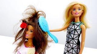 Барби хочет быть парикмахером. Видео для девочек