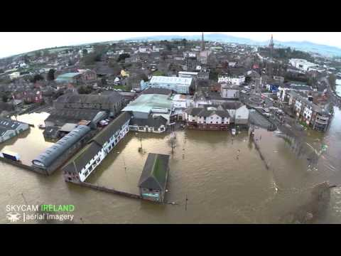 VIDEO: Drone Footage Shows Terrible Flooding In Wexford | Her ie