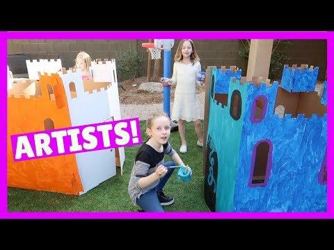 Fun Artwork Play in the Backyard