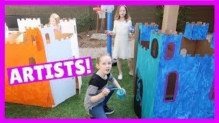 Fun Artwork Play in the Backyard