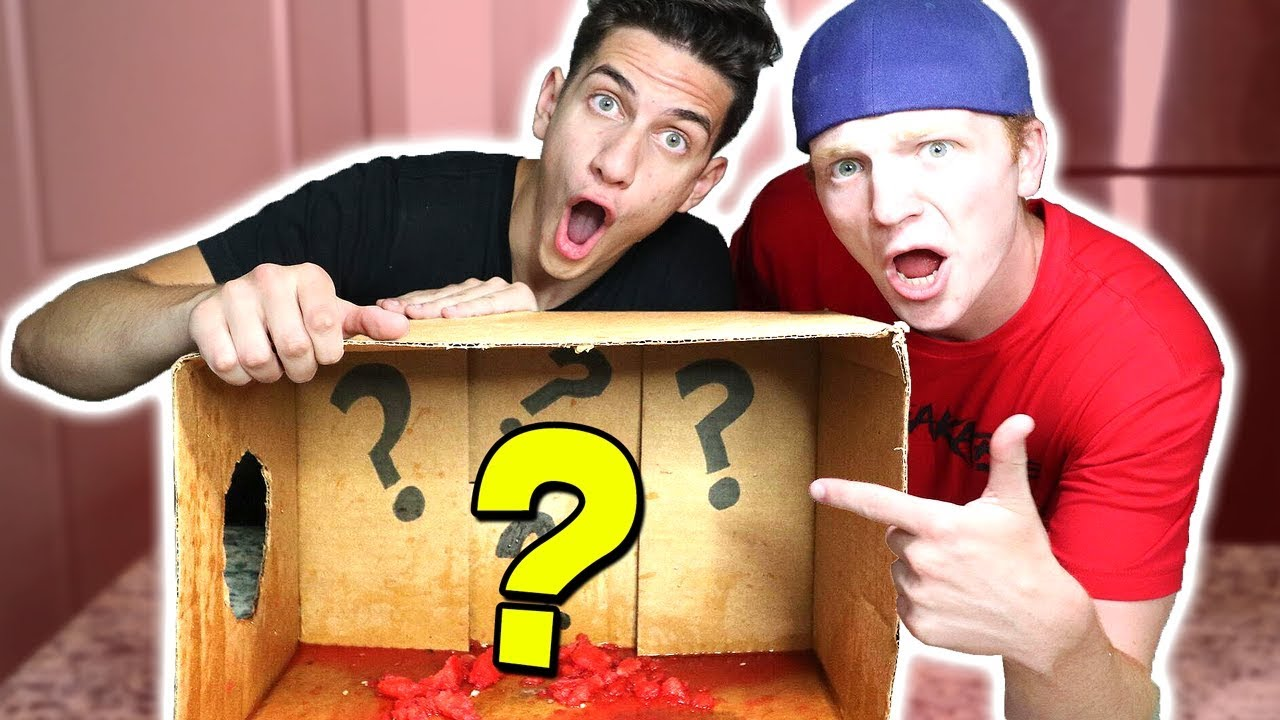 MOST INSANE WHAT'S IN THE BOX CHALLENGE! (WITH UNSPEAKABLEGAMING)