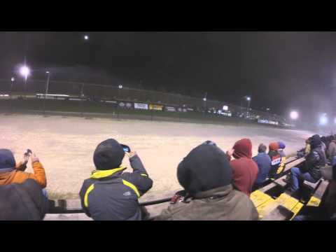 World of Outlaws STP Sprint Car Series @ Rolling Wheels Raceway Park (GoPro Head Cam) (10/11/14)