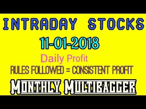 Day trading stocks 11-01-2018  Best stocks with huge potential for intraday