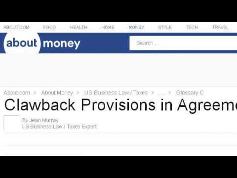 What is a clawback provision in a partnership agreement youtube what is a clawback provision in a partnership agreement platinumwayz