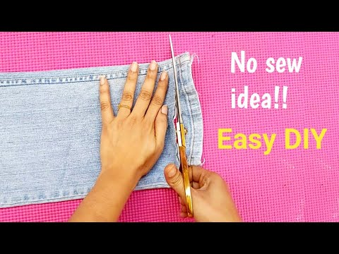 #Bestoutofwaste Old Jeans reuse idea #Easy & Useful  DIY from old jeans#Old Jeans pant reuse idea #