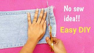 #Bestoutofwaste Old Jeans reuse idea #Easy & Useful  DIY from old jeans#Old Jeans pant reuse idea #