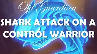 Shark attack on a Control Warrior (Hearthstone Rise of Shadows Shark Rogue gameplay)