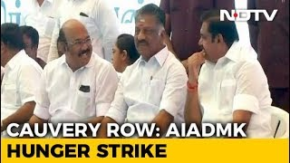 Cauvery Water Dispute: AIADMK Launches Hunger Strike In Tamil Nadu