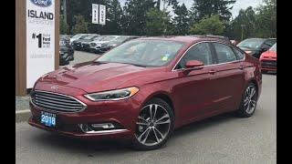2018 Fusion Titanium W/ Keyless Entry, Nav, AWD Review| Island Ford