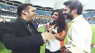 Salman Khan Teasing Anchor Archana Vijaya With His Funny Interview At CCL