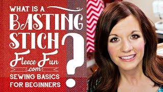 What is a basting stitch?