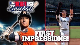 First Look at RBI Baseball 19 | Gameplay, New Features, Franchise & More