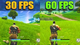 60 fps vs 30 fps gaming at 4k fortnite - fortnite fps capped at 30