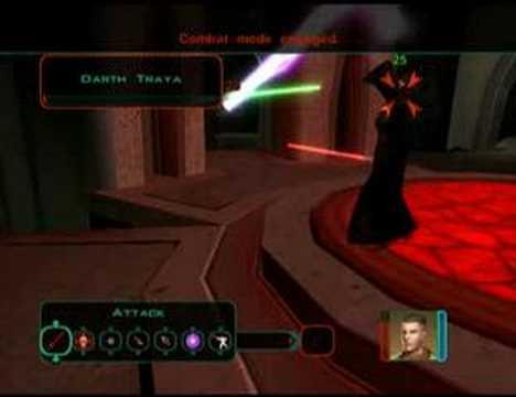 Star Wars: KOTOR 2- Floating Lightsaber vs. Darth Traya ...
