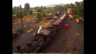7/132018 Eight car train 2115 arrives in Chama, NM