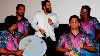 Riteish Deshmukh plays drums at BANJO trailer launch