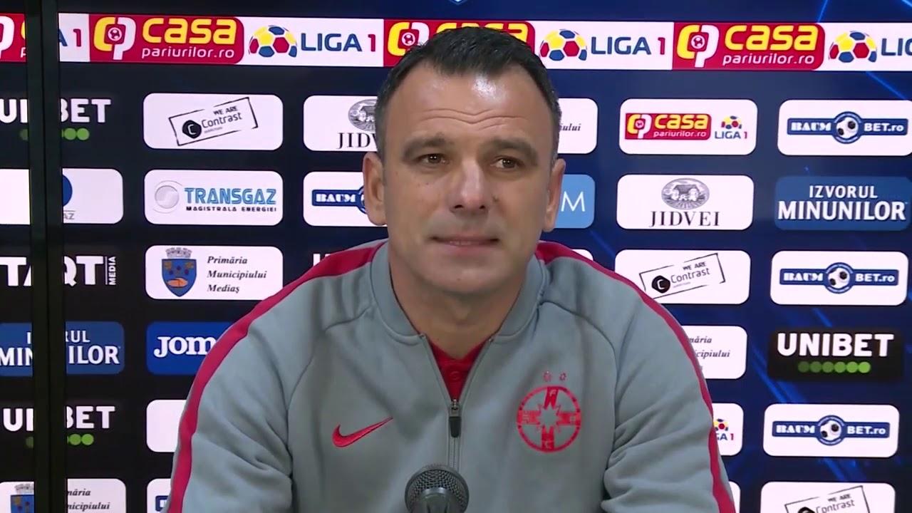 Conferinta de presa Toni Petrea dupa Gaz Metan Medias - FCSB 2-3