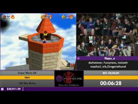 #ESA16 - Super Mario 64 [120 Star Relay] by flippy_o, dwhatever, fuzzyness, noizeeh, mashsrl, srb  a