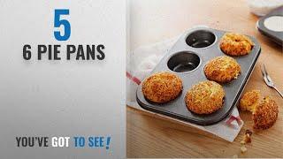 Top 10 6 Pie Pans [2018]: Kurtzy Carbon Steel 6 Cups Non Stick Baking Pan Bakeware Moulds For