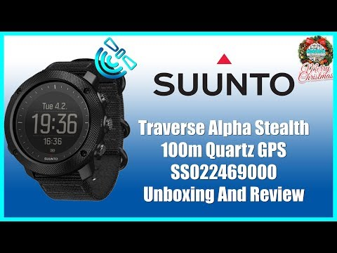 Best Military Watch! | Suunto Traverse Alpha Stealth 100m Quartz GPS SS022469000 Unbox & Review