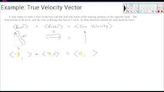 Example: True Velocity Vector