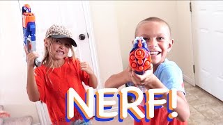 NERF BLASTERS AMBUSH PRANK!!