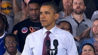 President Obama Denounces Right-to-Work Laws at Visit to Auto Plant