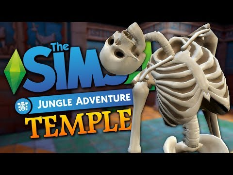 TEMPLE SKELETONS - Sims 4 Jungle Adventure -The Sims 4 Funny Highlights #125