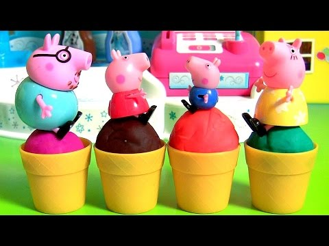 Thumbnail: Homemade Play Doh Ice Cream Peppa Pig from Disney Frozen Elsa Ice Cream Factory Play-Doh Food Toys