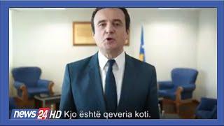 Kurti video-mesazh pas votimit te qeverise se re @News24 Albania