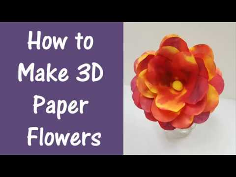 How To Make 3D Paper Flowers YouTube