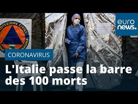 Coronavirus: l'Italie passe la barre des 100 morts ; écoles et universités fermées jusqu'au 15 m…