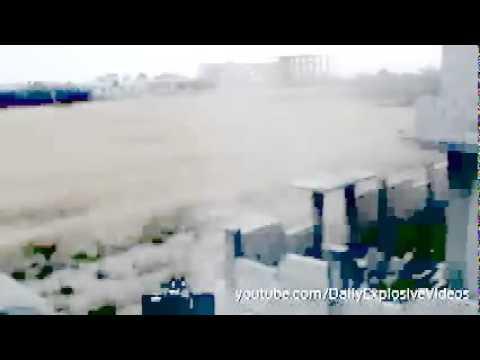 Rebls Anti aircraft Gun Firing Bouncing Bullets   ZU 23   Syria