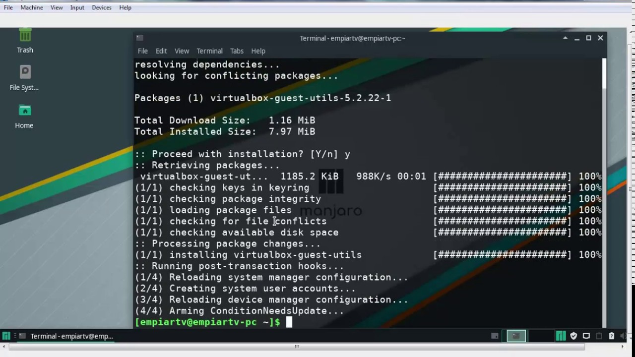 How to Install VirtualBox Guest Addition Tools in Linux Manjaro 18 0