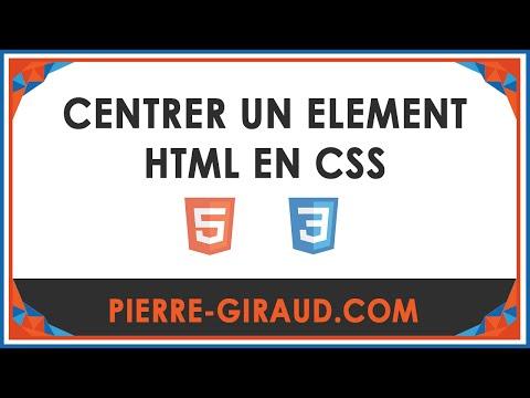 Centrer Un élément HTML En CSS