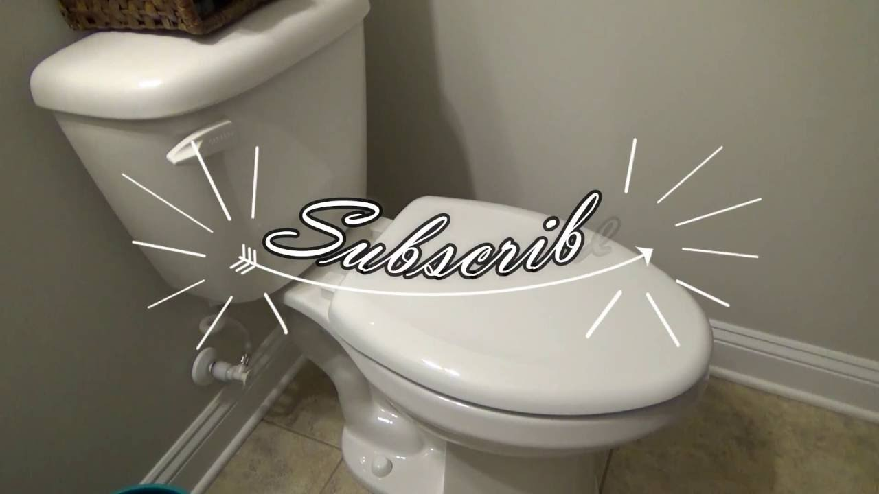 Replacing A Toilet Seat With Bemis Whisper Close Toilet Seat Youtube