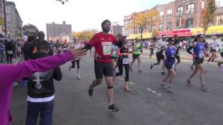 ING New York City Marathon 2013 from 4th Avenue 59th Street Sunset Park Part 1