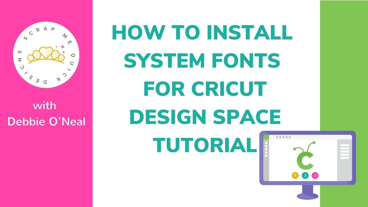 How to Install a System Font for Cricut Design Space