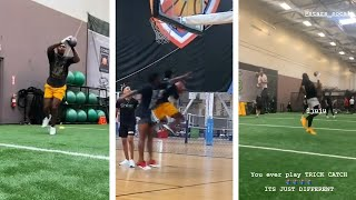 Stefon Diggs Schools Brother Dallas Cowboys Rookie Trevon Diggs In Hoops, Gets Workout With Juju