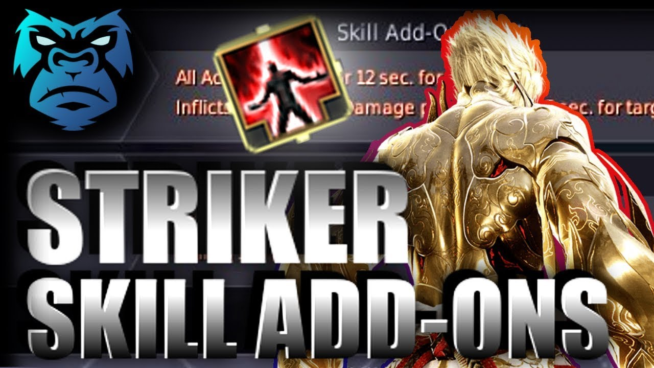 STRIKER SKILL ADD-ONS | In Depth Guide and Opinions | Xbox / PC | Black  Desert Online