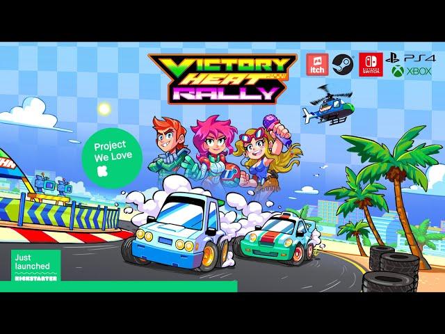 Victory Heat Rally - Kickstarter Trailer! (Funded in Nov. 2020)