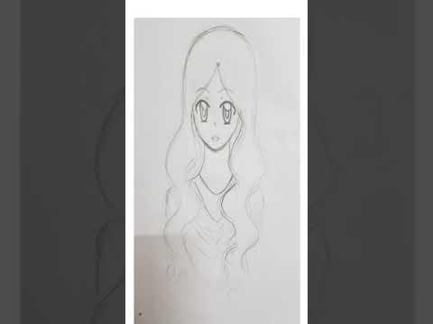 *SPEED PAINT* Black Hair Anime Girl