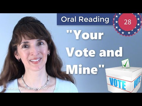 """Oral Reading Fluency 28: """"Your Vote and Mine"""" - Build Vocabulary & Fluency"""