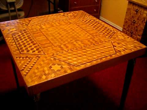 Intricate Woodworking Intarsia Furniture YouTube