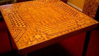 Intricate Woodworking Intarsia Furniture