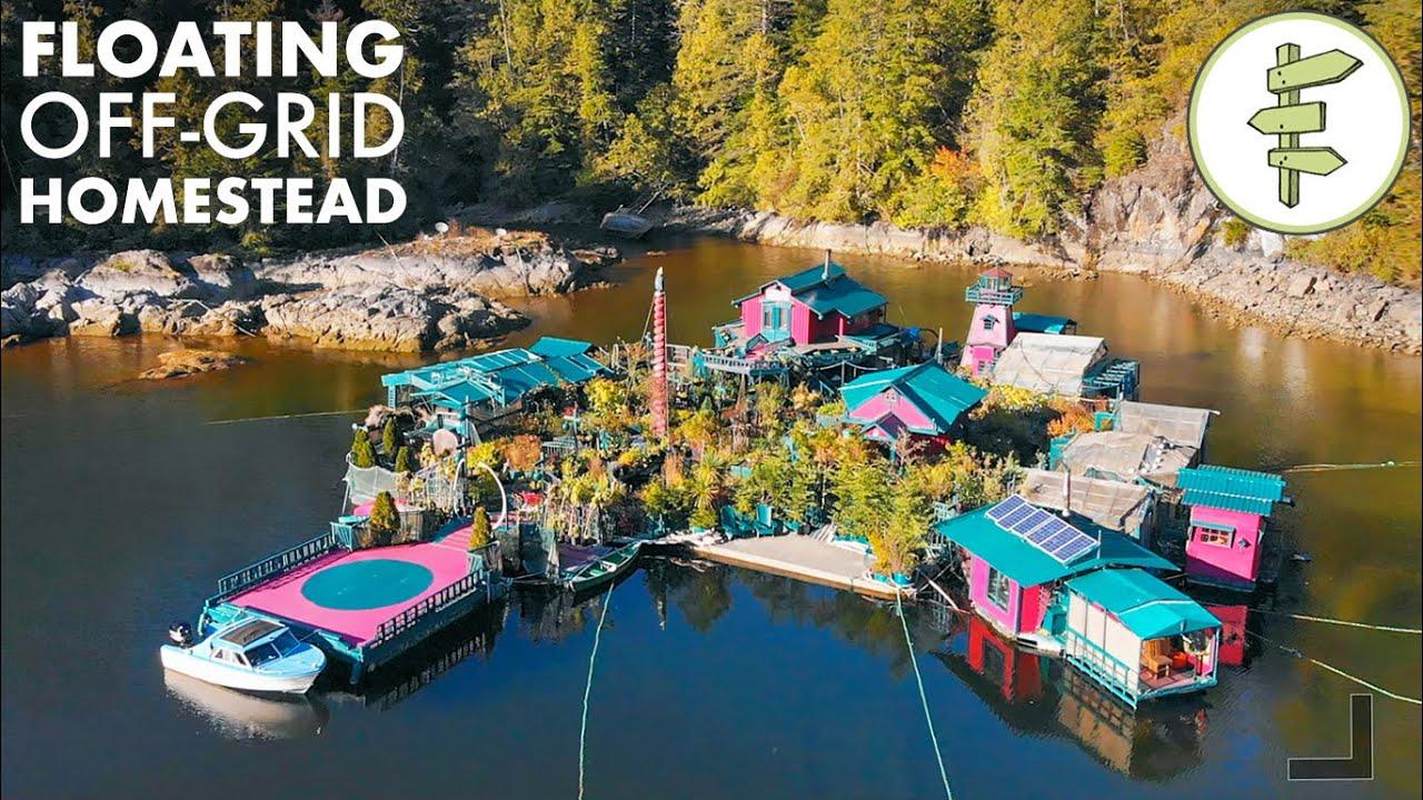 27 YEARS Living Off-Grid on a Self-Built Island Homestead