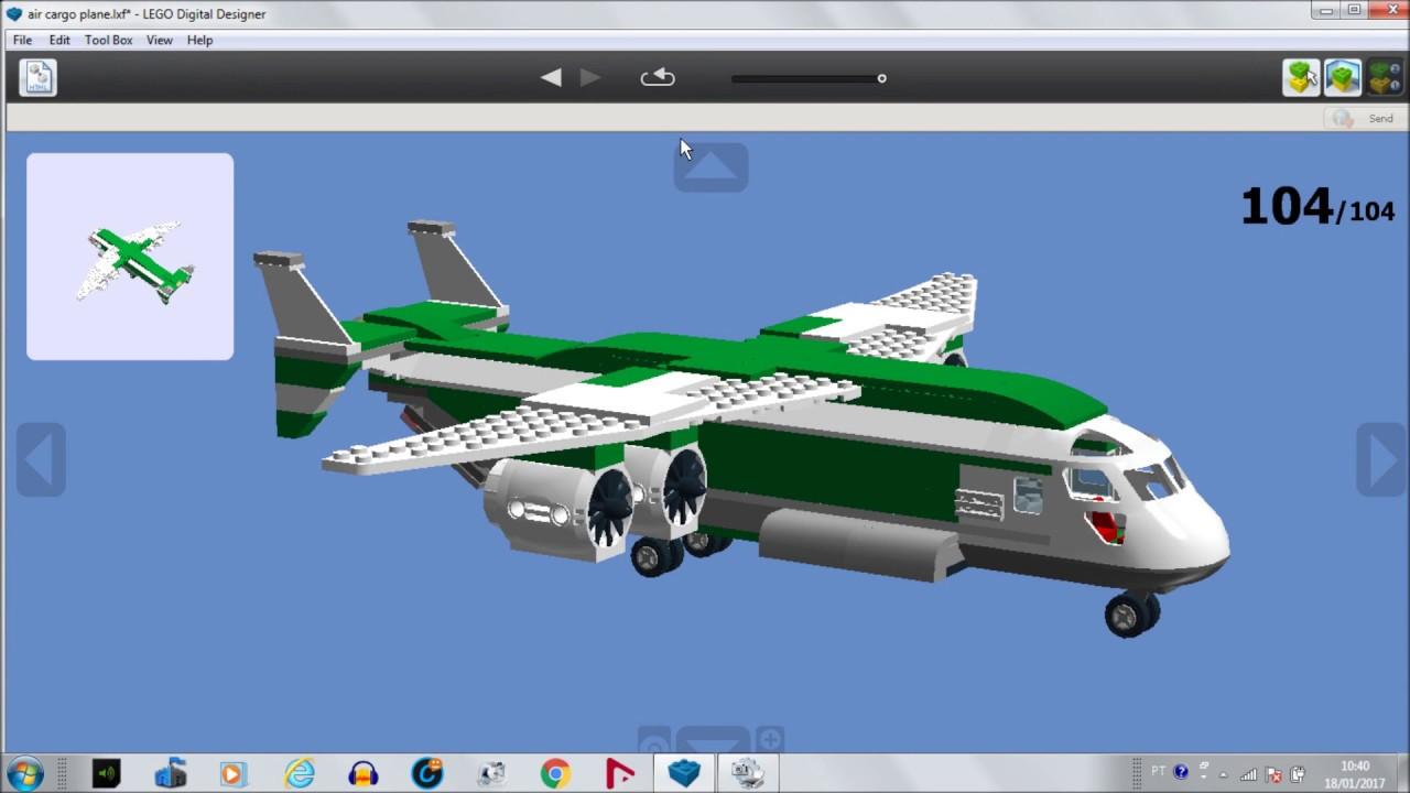 Como fazer Avião de carga Air Cargo Plane Lego - YouTube