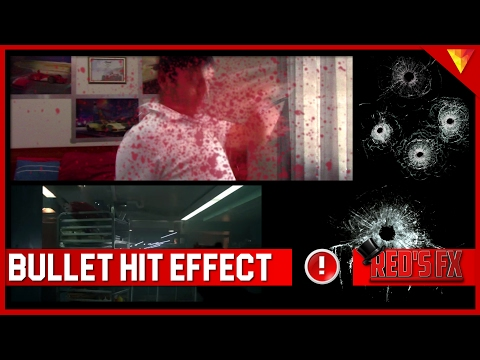 Bullet Hit/Blood Splatter Hitfilm Express Tutorial | Red